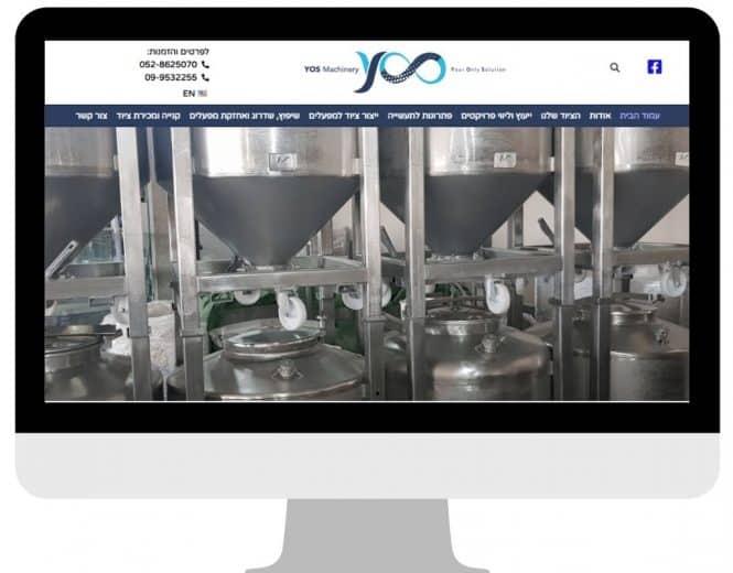 יוס מכונות – בניית וקידום האתר אורגנית (SEO)